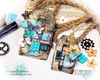 Mixed media grunge tags video tutorial
