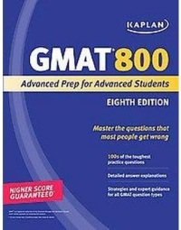 kaplan 800 book for GMAT