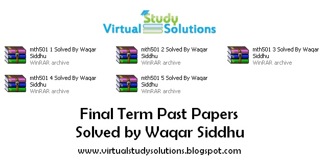 MTH501 Final Term Past Papers Solved By Waqar Siddhu Folder preview