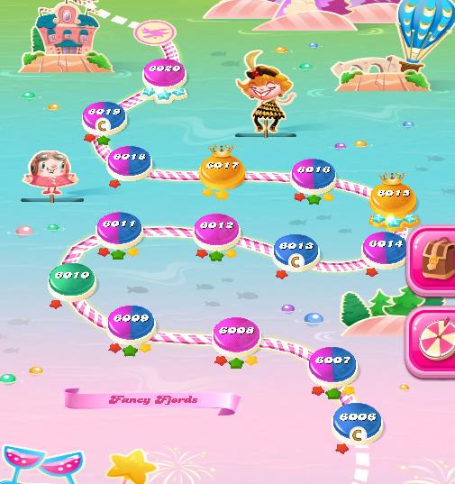 Candy Crush Saga level 6006-6020