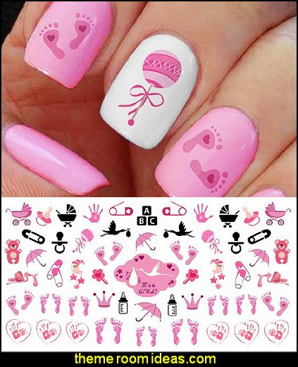 baby nail art  Nail Art Decals its a girl nail art decorations