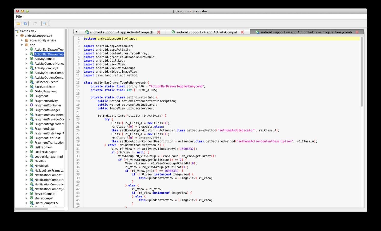 android cracking: jadx - Dex to Java decompiler