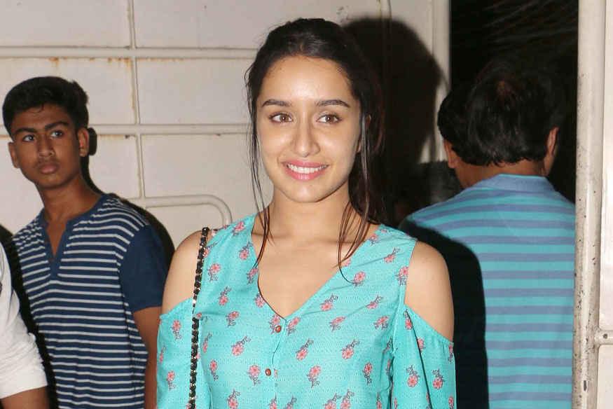 Shraddha Kapoor atSpecial screening of Haseena Parkar at Sunny Super Sound