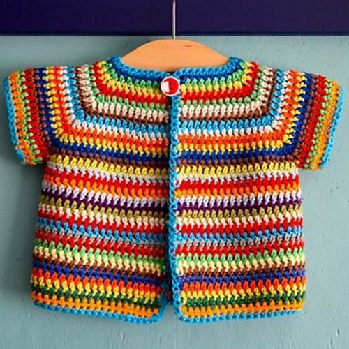 Colourful Baby Vest - Free Pattern