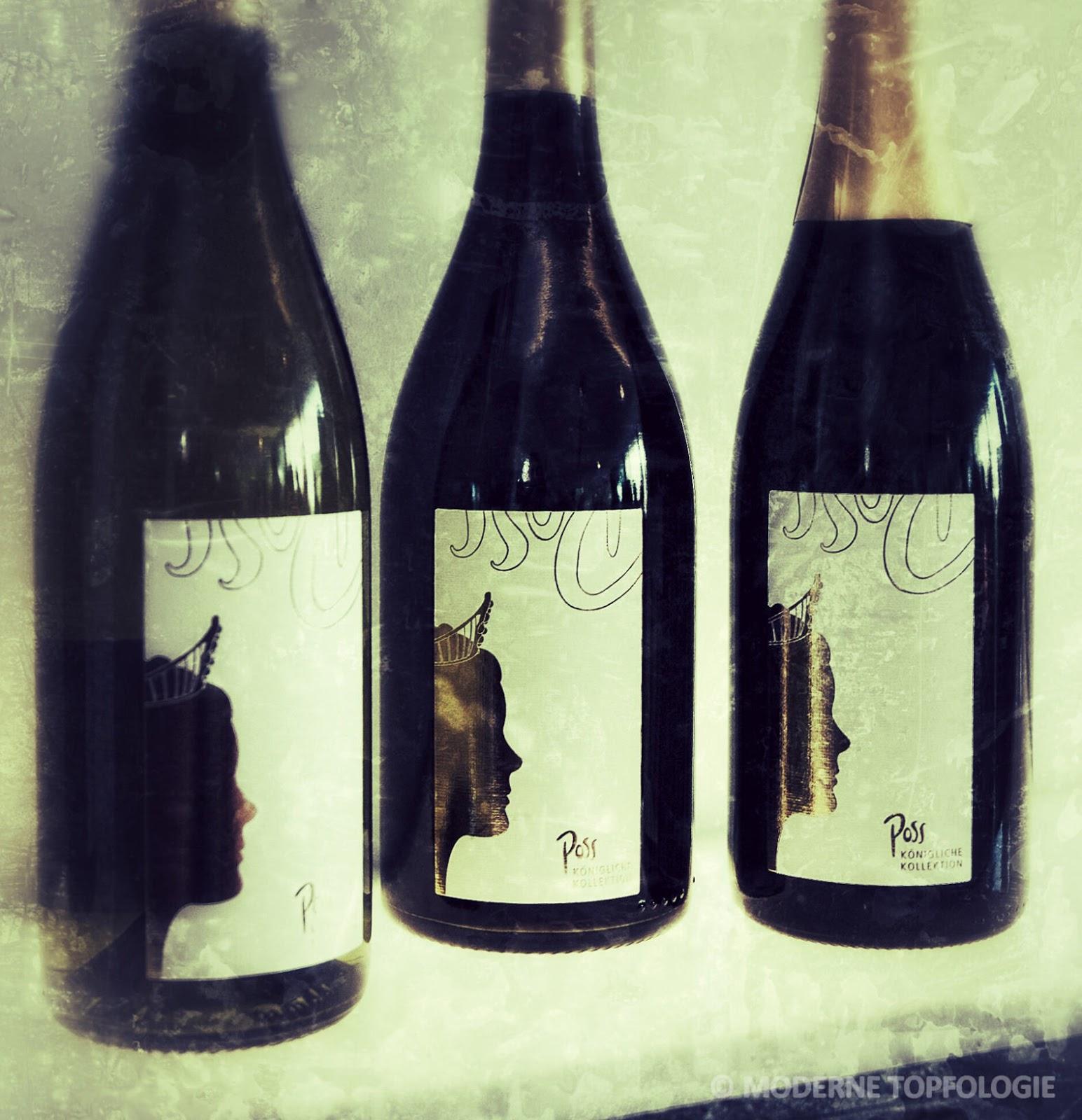 Drei Weine der Koeniglichen Kollektion der Deutschen Weinkoenigin 2013 / 2014 Nadine Poss
