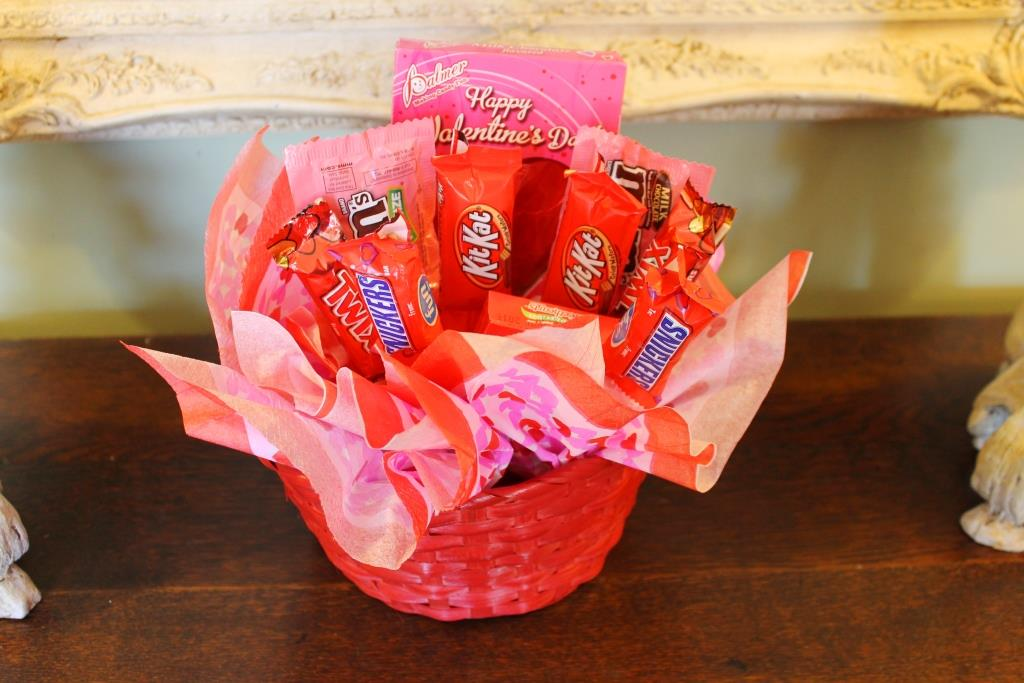 how to make a candy bouquet in a cup