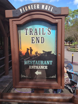 Trail's End Restaurant Sign Disney World