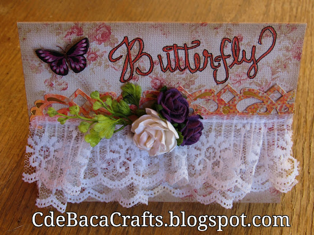 Handmade Butterfly Card by CdeBaca Crafts Blogspot.