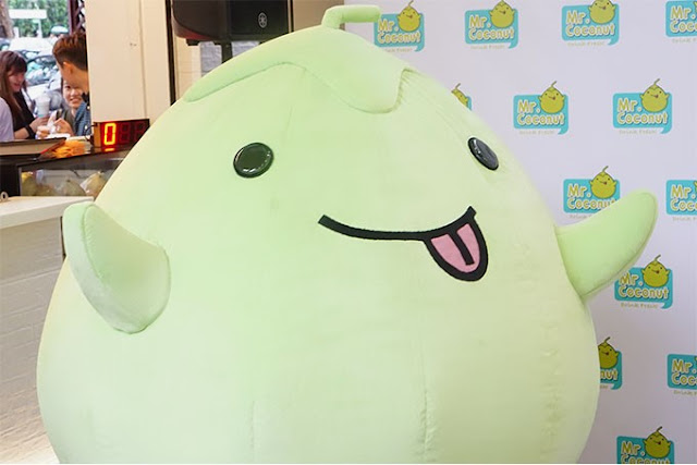 Mr Coconut Singapore Mascot