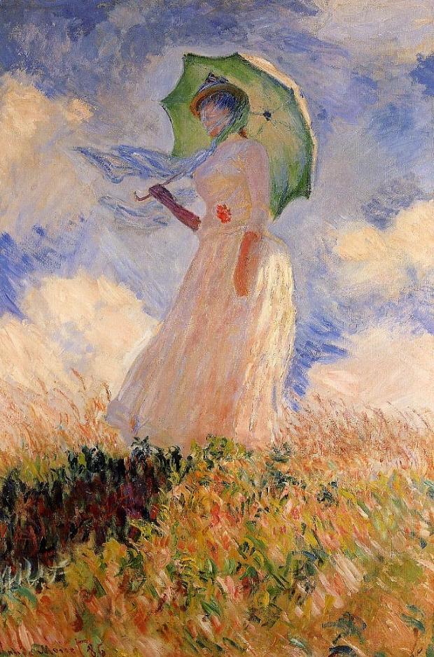 Клод Моне «Женщина с зонтиком (этюд фигуры, смотрящей налево)»