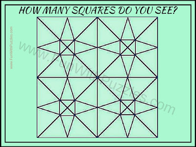 Number of Squares counting puzzle for Adults