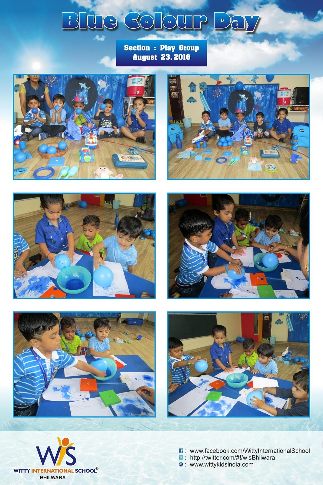 On the top of the World   : Blue Colour Day celebrated by Play Group
