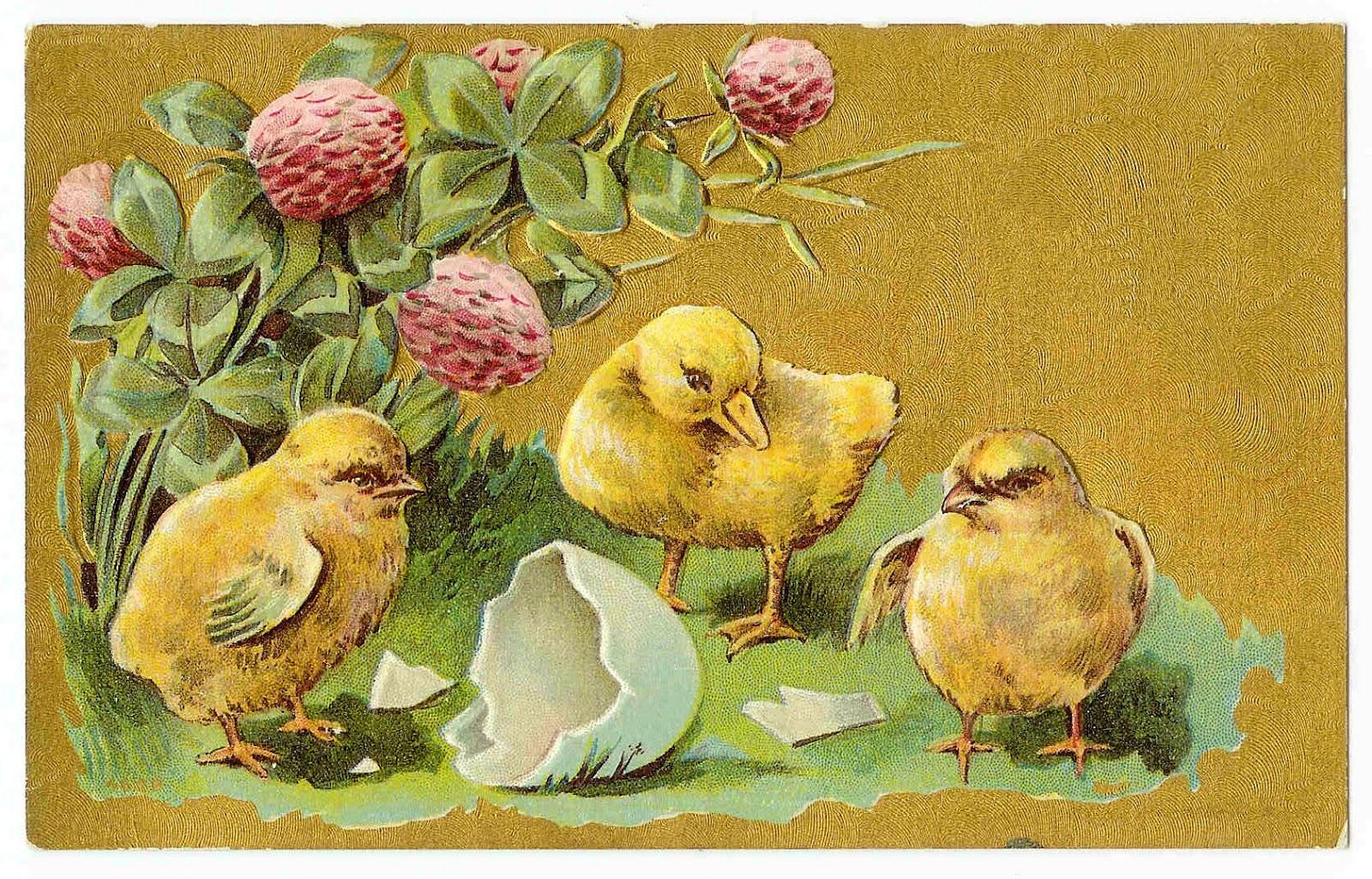 Antique Images: Vintage Easter Clip Art: Easter Postcard ... Easter Clip Art Free Retro