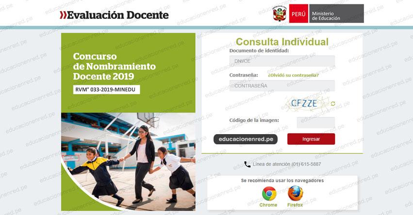 MINEDU: Resultados Nombramiento Docente 2019 (25 Octubre) Publicación Preliminar Etapa Descentralizada - www.minedu.gob.pe
