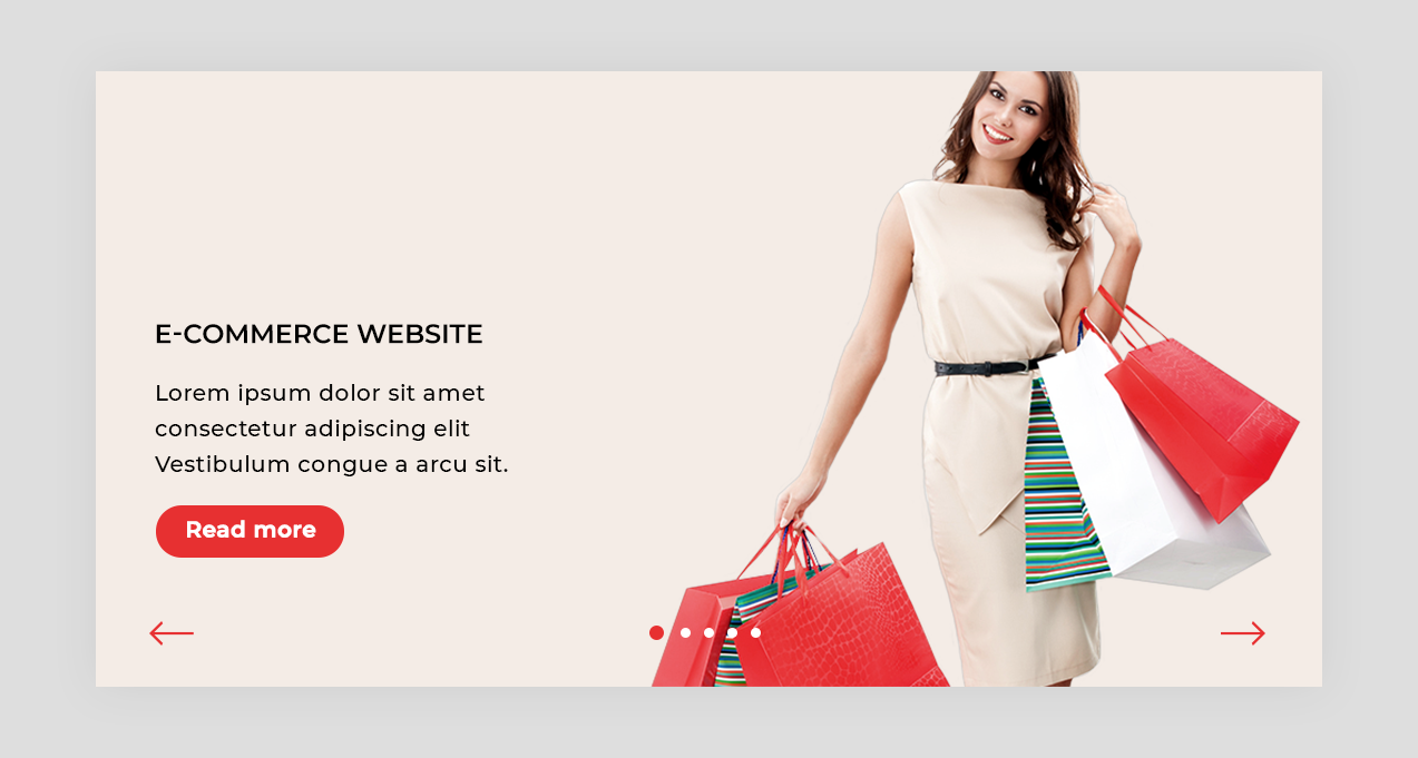 eCommerce Website Slider Design Template