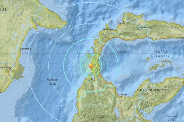 Động đất mạnh 7,7 độ, Indonesia