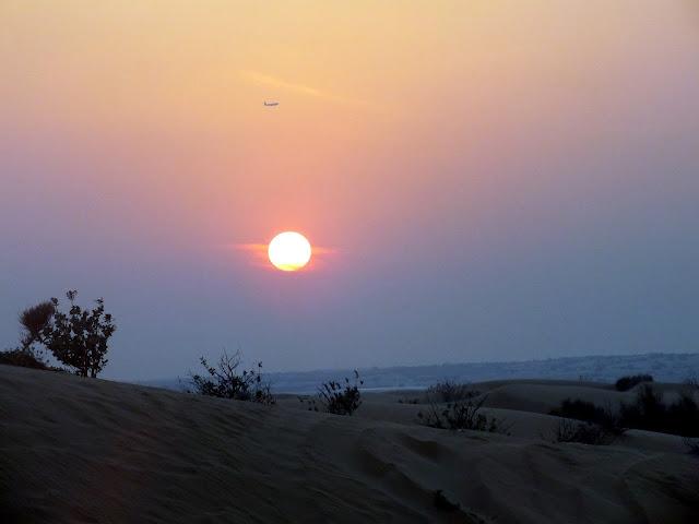 ver el atardecer en el desierto de Dubai