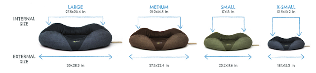 BeCo Donut Bed size graphic