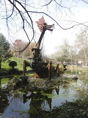 Tholus, le dragon du sculpteur Tom Petrusson, Jardin japonais, Toulouse, malooka