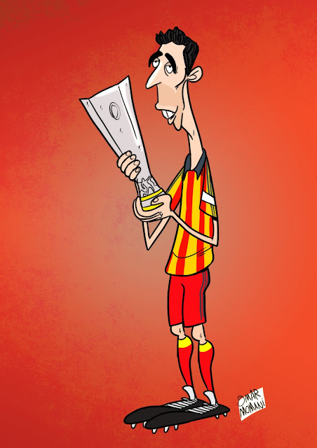 Hakan Şükür cartoon caricature