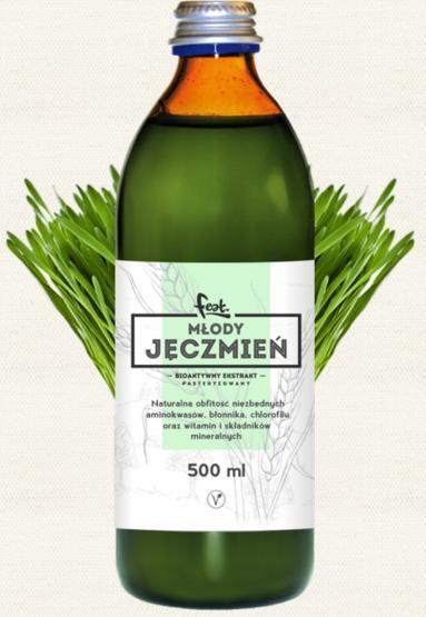 jęczmień zielony sproszkowany sok