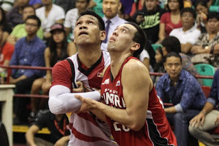 June Mar Fajardo and Greg Slaughter battling for space