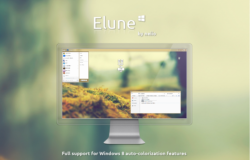 elune theme for windows 8