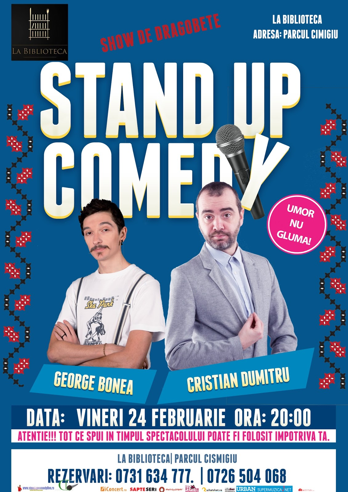 Stand-Up Comedy Vineri 24 Feb. Bucuresti