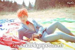 Poto Keren V BTS Kim Taehyung Model Rambut Orange