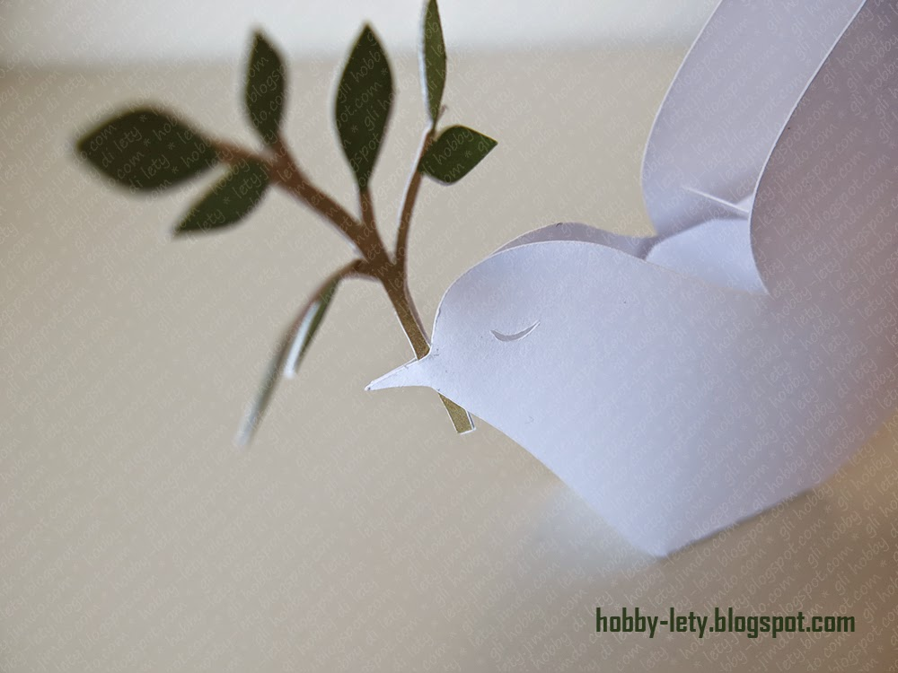 Gli Hobby Di Lety: La Colomba Della Pace Come Portaconfetti