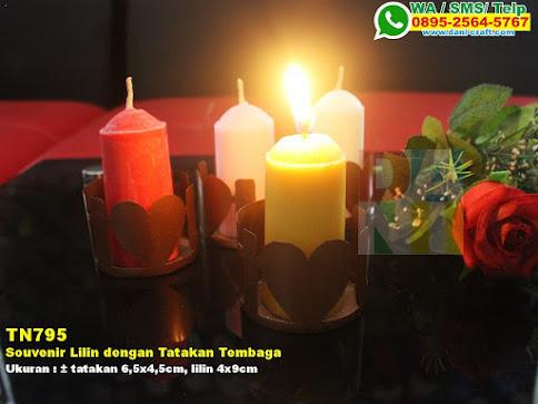 Souvenir Lilin Dengan Tatakan Tembaga