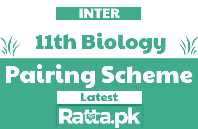 1st Year/11th Biology Pairing Scheme 2020 - Inter Combination