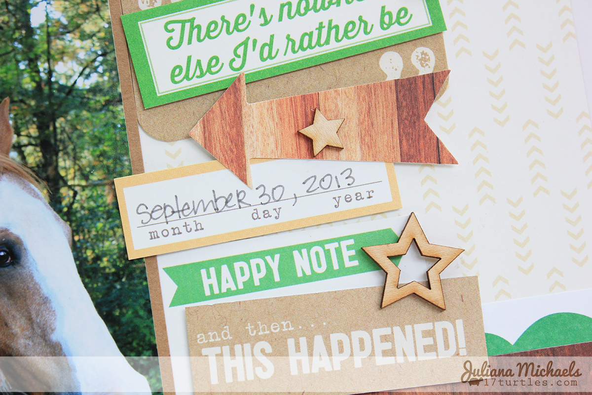 Right Here Scrapbook Page using Star Fun FREE Digital Cut File by Juliana Michaels 17turtles
