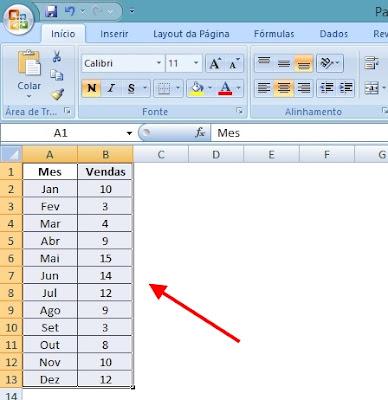 Grafico Excel - Selecionar