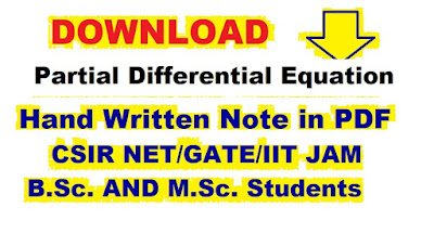 AMMATHS TUTORIALS : PARTIAL DIFFERENTIAL EQUATION HAND WRITTEN NOTES