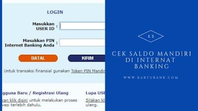 Internet banking bank mandiri