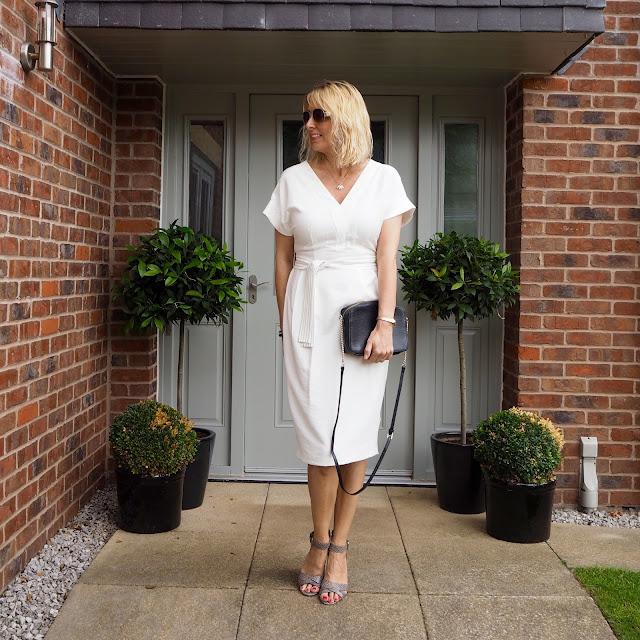 tailored white dress, office wear, corporate wear dress 1