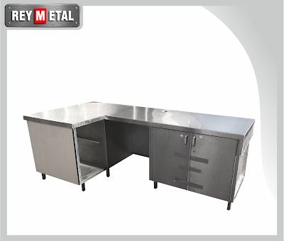Stainless Work Table dengan Drawer dan Storage - reymetal
