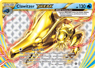 Clawitzer BREAK Steam Siege Pokemon Card
