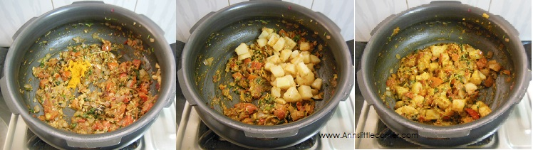 How to make Potato Biryani- Step 6