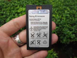 baterai Sony Ericsson BST-22 (T300, T310, dll) original