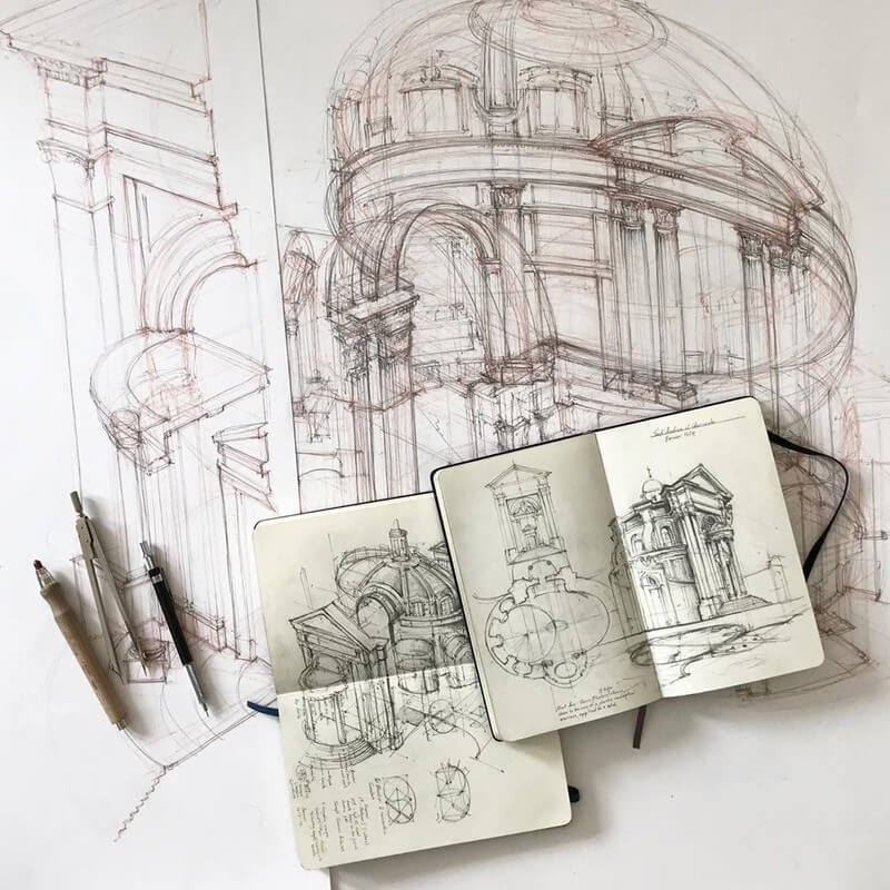 02-WIP-Jerome-Tryon-Travel-Architectural-Urban-Sketches-www-designstack-co