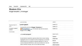 Modern Clix Blogger Template