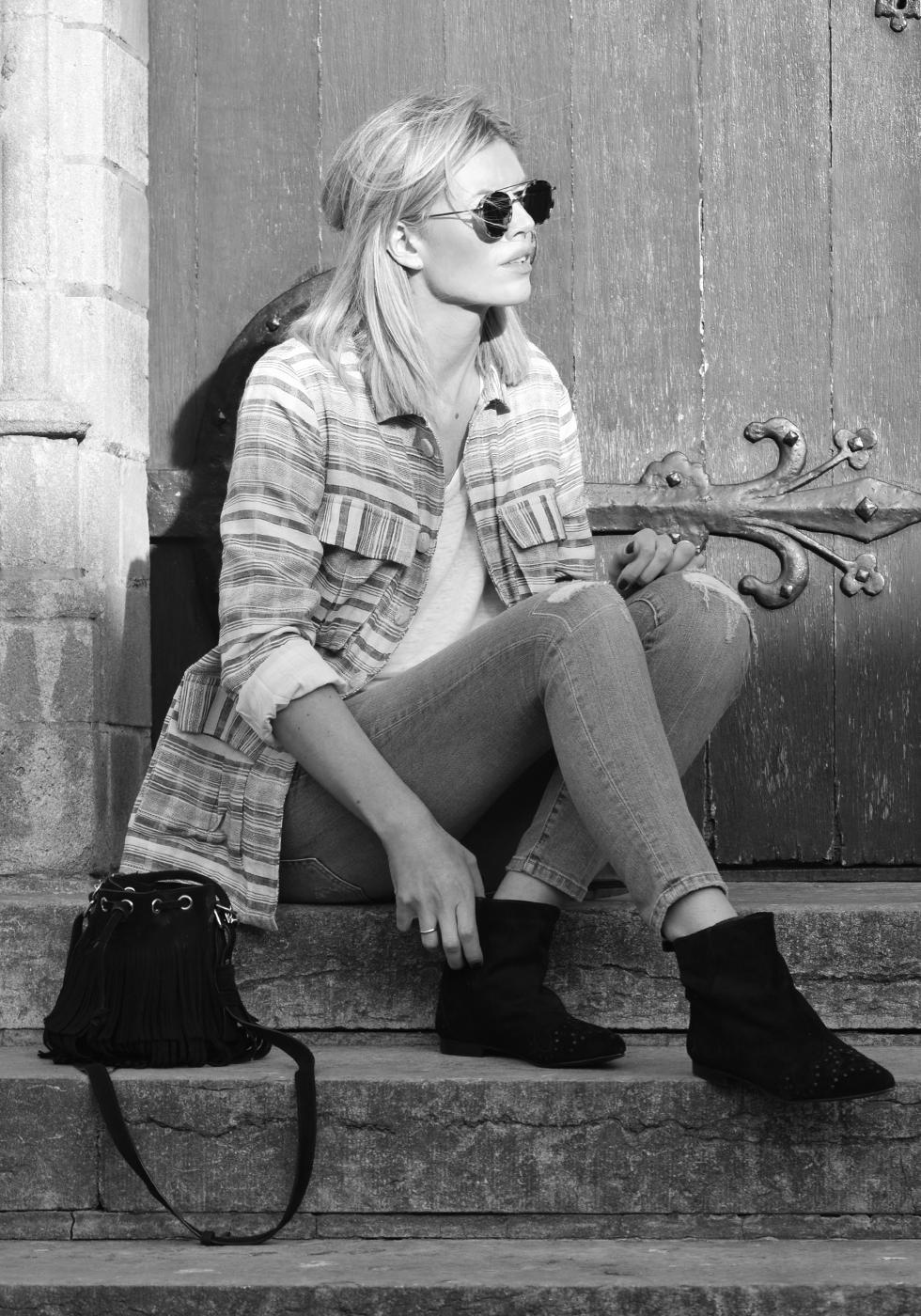 Outfit of the day, Ivy Lee, Céline, Dewolf, Current/Elliott, Saint Laurent, Liv The Label