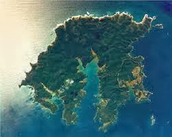 Kawau Island New Zealand from the air