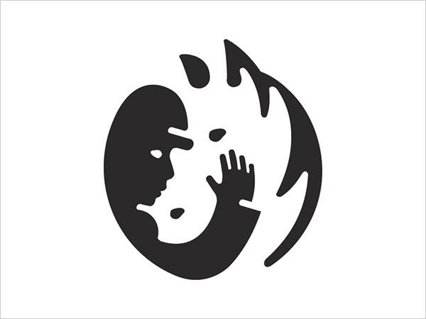 Contoh Desain Logo Negative Space - 24
