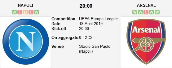 مباراة نابولي و آرسنال بث مباشر 18/04/2019 الدوري الأوروبي
