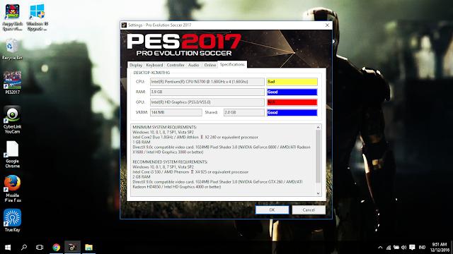 Mengatasi VRAM/GPU Unable PES 2017