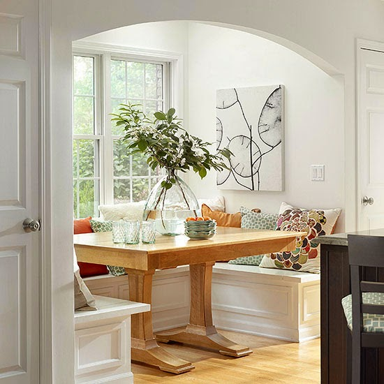 kitchen nook decorating ideas modern furniture 2014 comfort breakfast nook decorating ideas 19935