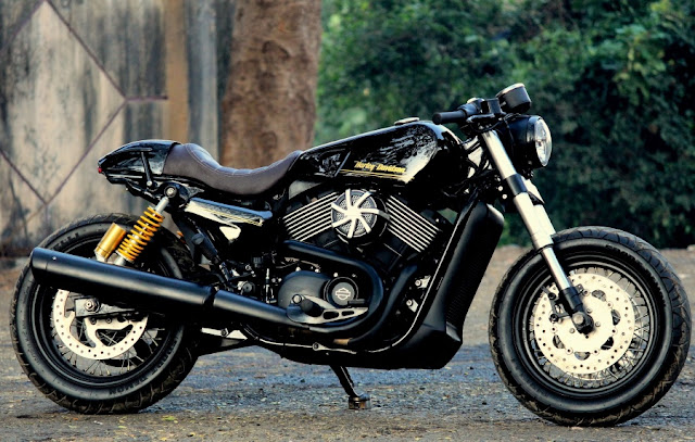 Harley Davidson street 750 Cafe racer by jedi customs